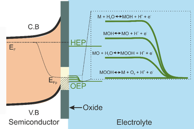 Direct water splitting by surface-conditioned n-GaP (100) photoanodes