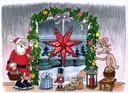 Weihnachtsstern-Weihnachtsbild