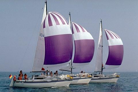 Bildnr. SPOS600: Segelschiffe der CAU  Bildnachweis: Foto: Horst Brix / Uni Kie