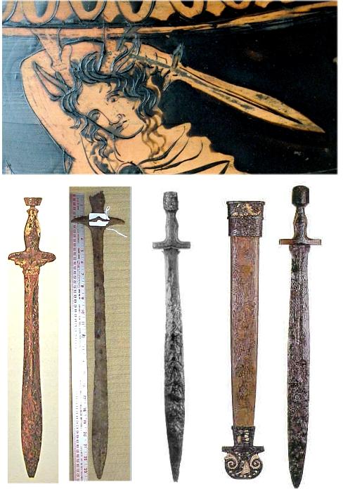 11.1.2 The Bronze Sword Bronze Greek Xiphos Sword For Sale
