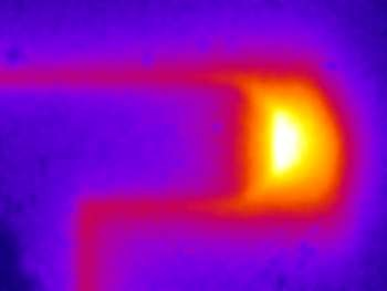 Thermal image of an IC track big